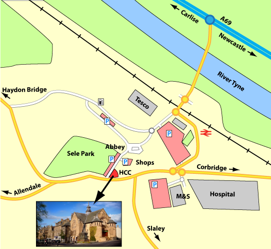 Hexham Community Church map